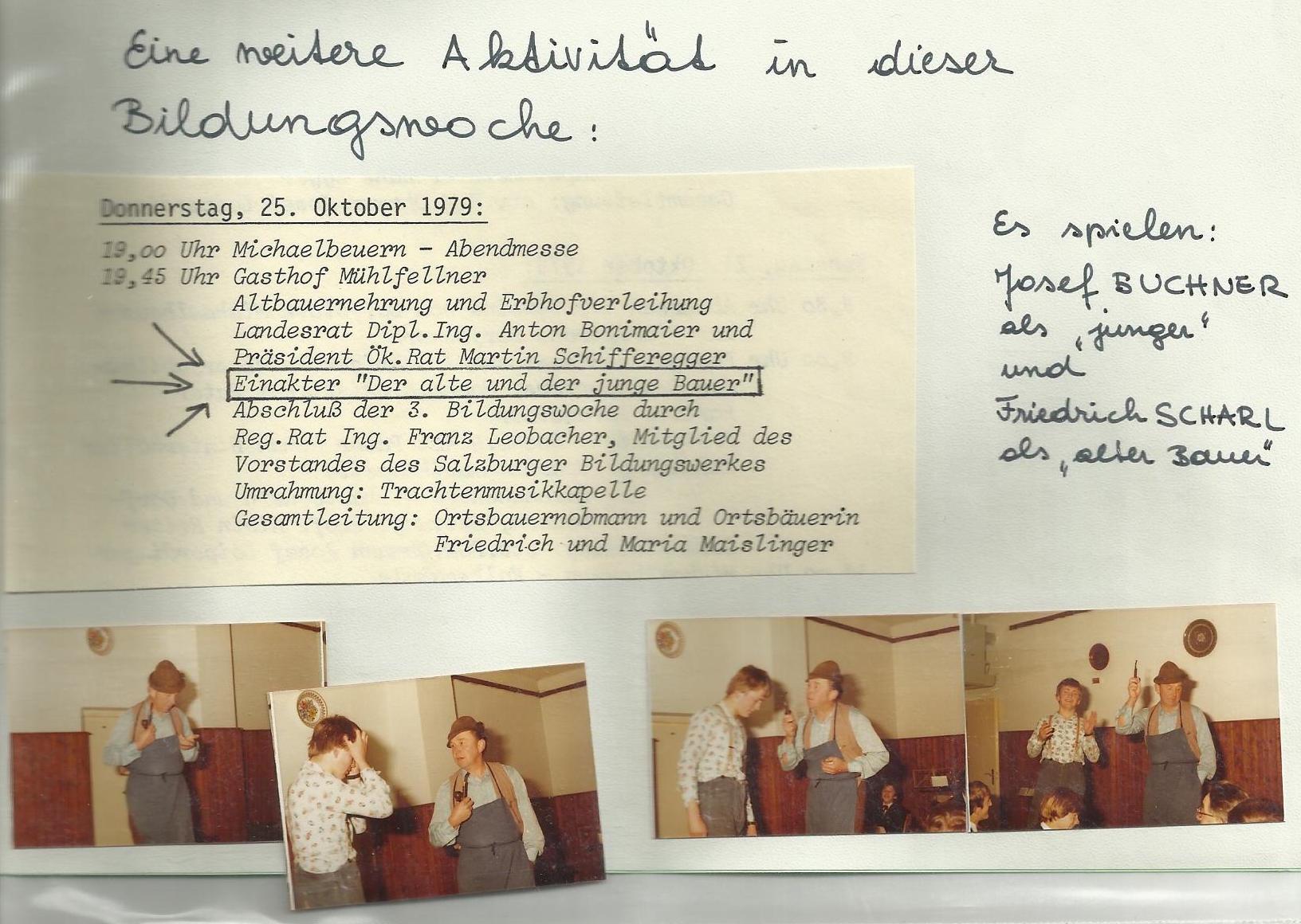 1979 Bildungswoche Der alte und der junge Bauer