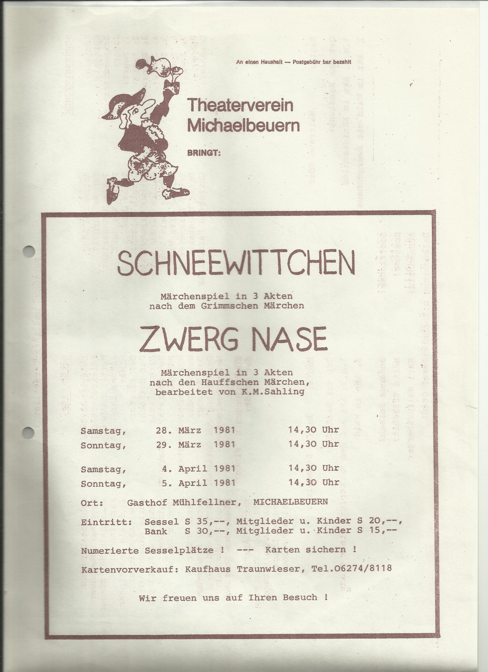 TV 1981 Schneewittchen und Zwerg Nase0001