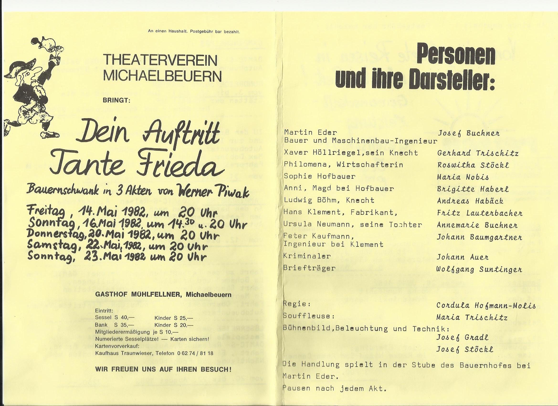 TV 1982 Dein Auftritt Tante Friede