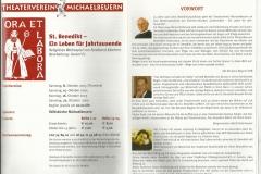 2005 Benediktus 01 Programm